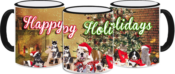 Animal Holiday Party! Mug 11oz - Vivid Sportswear