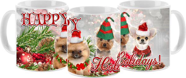 Doggie Holiday Mug 11oz - Vivid Sportswear
