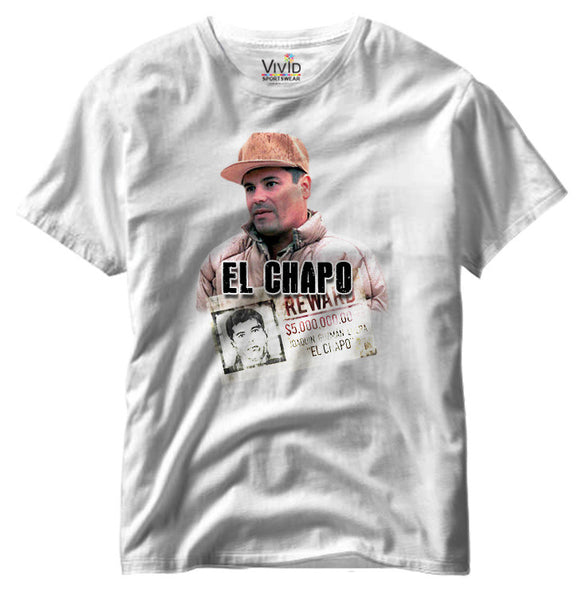 Adults El Chapo Reward T-Shirt - Vivid Sportswear