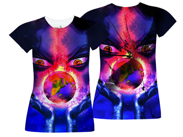 Woman Holding Earth Sublimated T-Shirt - Vivid Sportswear
