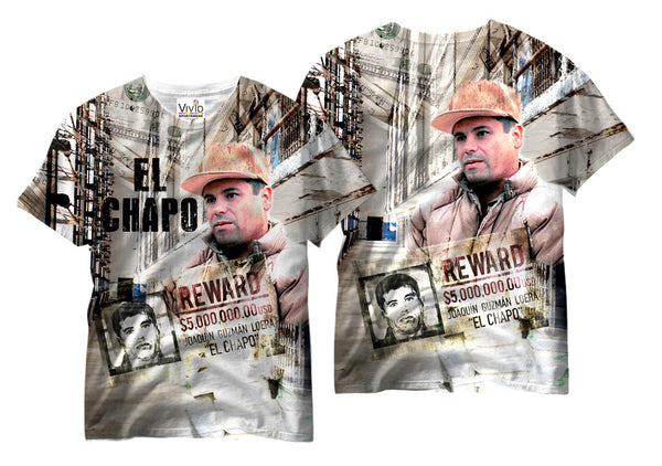 Adults El Chapo Sublimation T-Shirt - Vivid Sportswear