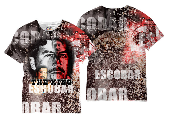 Adults Pablo Escobar The King Sublimation T-Shirt - Vivid Sportswear