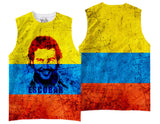 Adults Pablo Escobar/Colombian Flag Sublimation T-Shirt - Vivid Sportswear