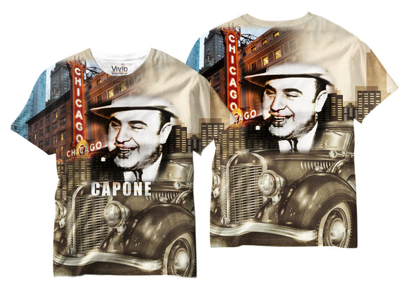 Adults Al Capone Chicago Sublimation T-Shirt - Vivid Sportswear