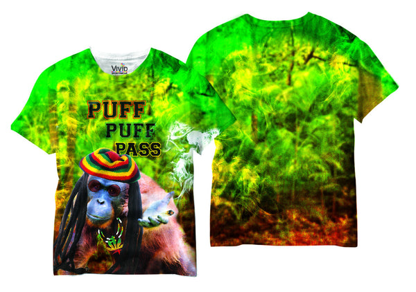 Adults PUFF PUFF PASS Sublimation T-Shirt - Vivid Sportswear