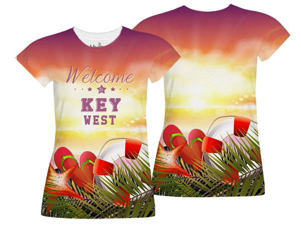 Sunset at Beach Sublimation T-Shirt - Vivid Sportswear