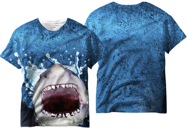 Adults Shark out of Water Sublimation T-Shirt - Vivid Sportswear