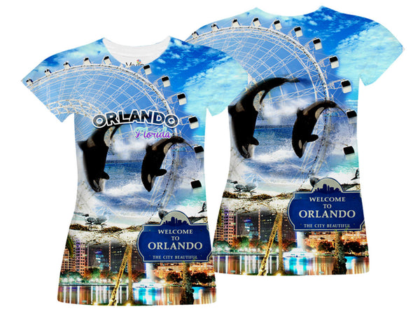 Orlando Florida Sublimation T-Shirt - Vivid Sportswear