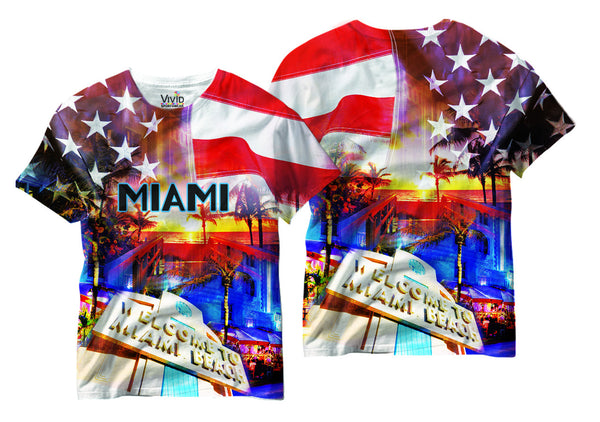 Adults Miami Sublimation T-Shirt - Vivid Sportswear
