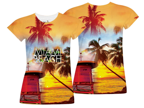 Miami Beach Sublimation T-Shirt - Vivid Sportswear