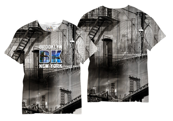 Adults Brooklyn, NY Sublimation T-Shirt - Vivid Sportswear