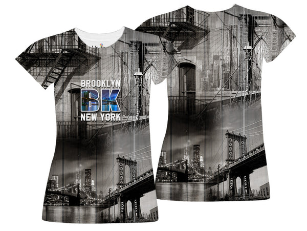 Brooklyn Bridge Sublimation T-Shirt - Vivid Sportswear