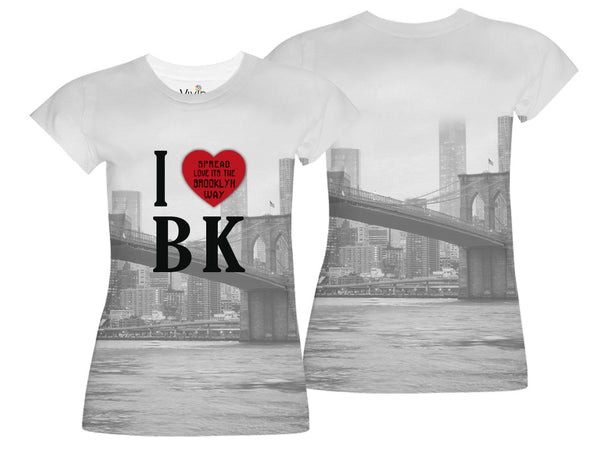 Spread Love its the Brooklyn Way Sublimation T-Shirt - Vivid Sportswear