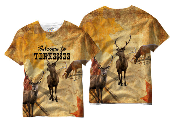Adults Welcome to Tennessee Sublimation T-Shirt - Vivid Sportswear