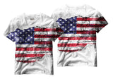 Adults American Flag Rip Through Sublimation T-Shirt - Vivid Sportswear