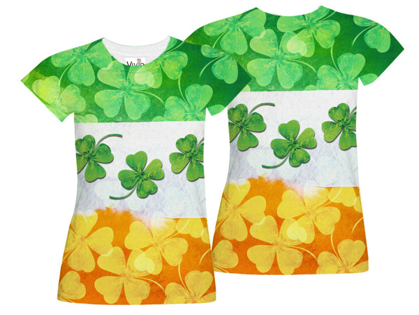 Ireland Shamrock Flag Sublimation T-Shirt - Vivid Sportswear
