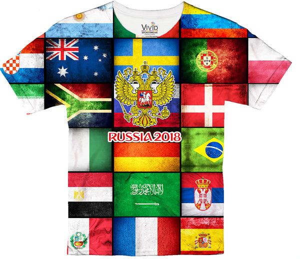 World Cup 2018 Sublimation T-Shirt - Vivid Sportswear