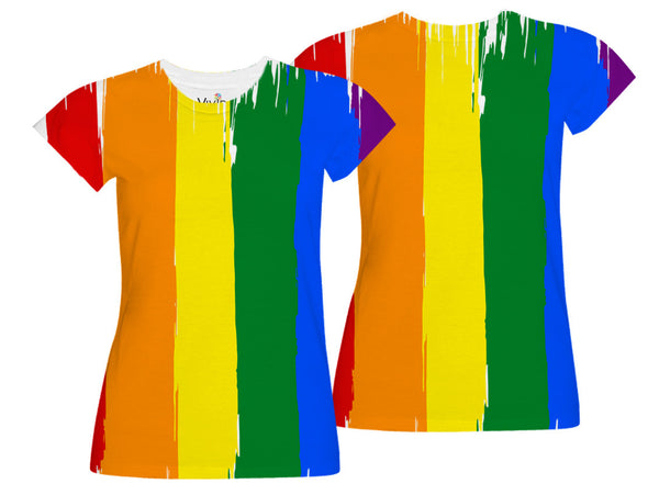Gay Pride Flag Sublimation T-Shirt - Vivid Sportswear