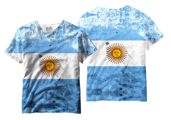 Adults Argentina Flag Sublimation T-Shirt - Vivid Sportswear