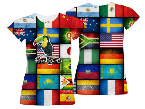 International Flags of the World 2016 Sublimation T-Shirt - Vivid Sportswear