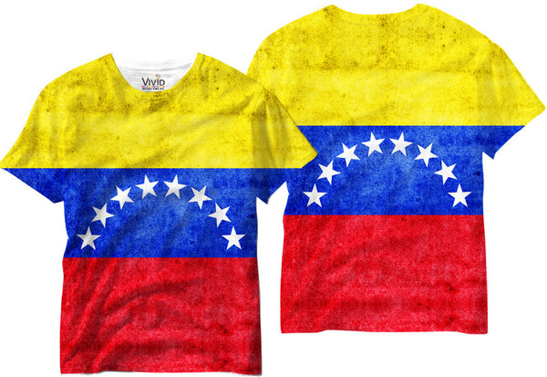 Venezuela Flag Sublimation T-Shirt