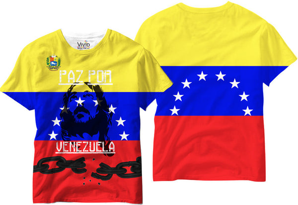 Adults Paz Por Venezuela Sublimation T-Shirt - Vivid Sportswear