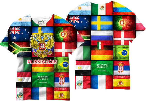Adults 2018 World Cup Sublimated T-Shirt - Vivid Sportswear