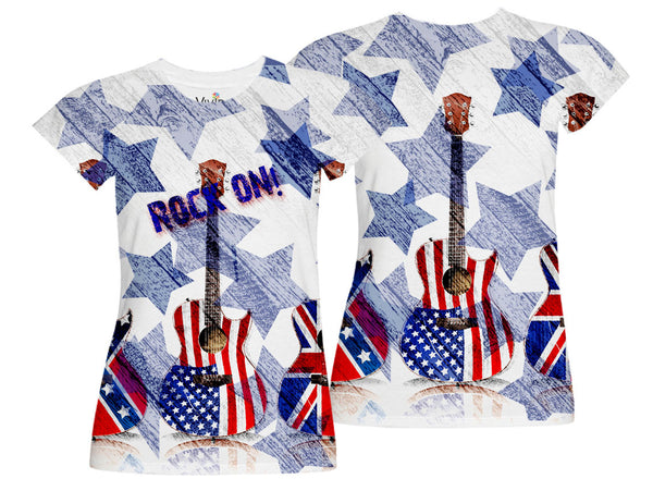 Rock On/Patriotic Sublimation T-Shirt - Vivid Sportswear