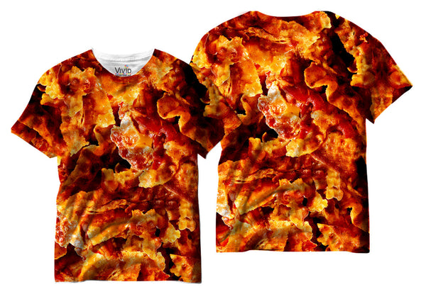 Adults Bacon Lover Sublimation T-Shirt - Vivid Sportswear