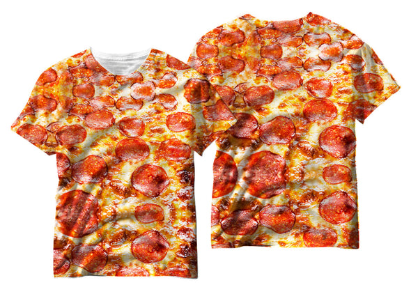 Adults Pepperoni Pizza Sublimation T-Shirt - Vivid Sportswear
