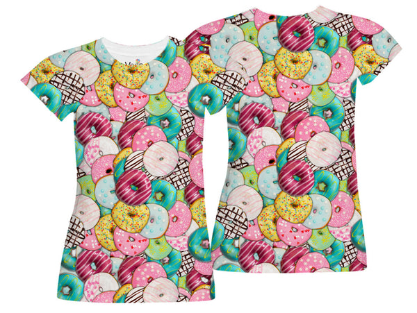 Donut Lover Sublimation T-Shirt - Vivid Sportswear