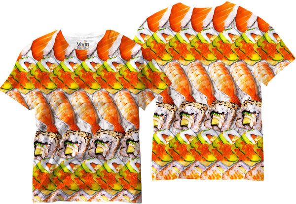 Adults Sushi Lover Sublimation T-Shirt - Vivid Sportswear
