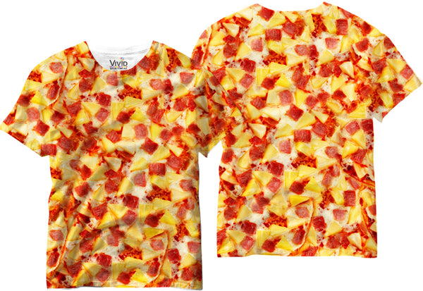 Adults Hawaiin Pizza Sublimation T-Shirt - Vivid Sportswear