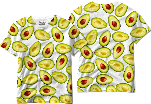 Adults Avocado Half Sublimation T-Shirt - Vivid Sportswear