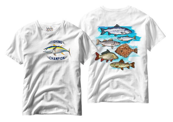 Adults Fishing Championship T-Shirt - Vivid Sportswear