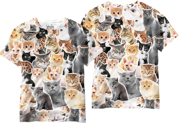 Adults Cat Lover Sublimation T-Shirt - Vivid Sportswear