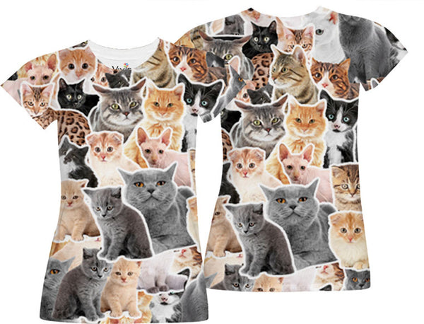 Cat Lover Sublimation T-Shirt - Vivid Sportswear