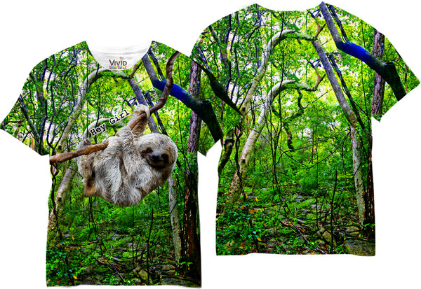 Adults Seductive Sloth Sublimation T-Shirt - Vivid Sportswear