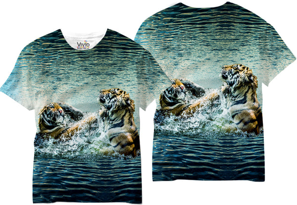 Adult Tiger vs. Tiger Sublimation T-Shirt - Vivid Sportswear