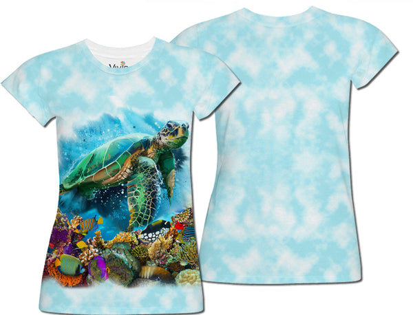 Sea Turtles Underwater Sublimation T-Shirt