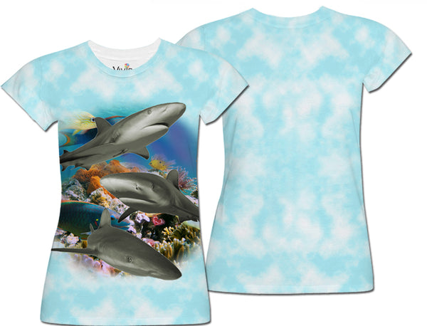 Sharks Underwater Sublimation T-Shirt