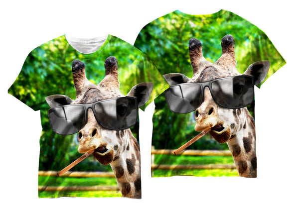 Adults Giraffe With Swag Sublimation T-Shirt - Vivid Sportswear
