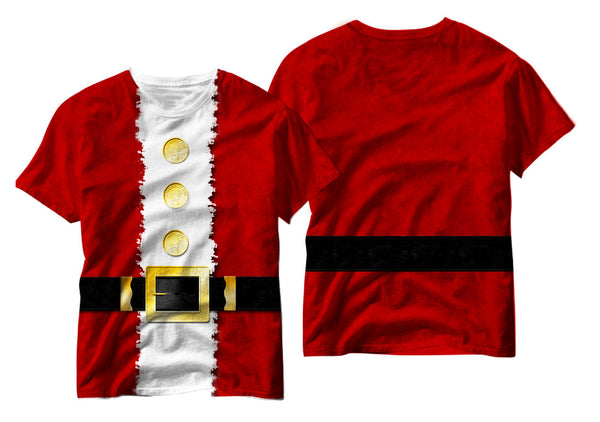 Adults Faux Santa Costume Sublimation T-Shirt - Vivid Sportswear