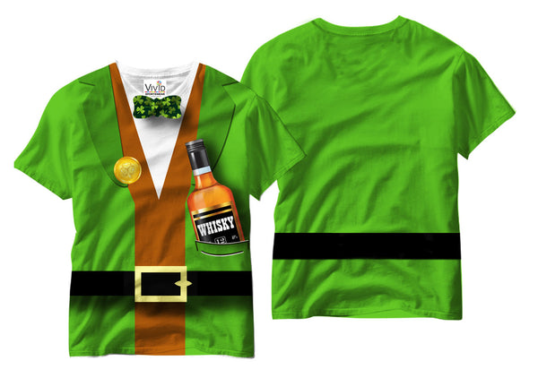 My Whiskey Bottle Sublimation T-Shirt - Vivid Sportswear