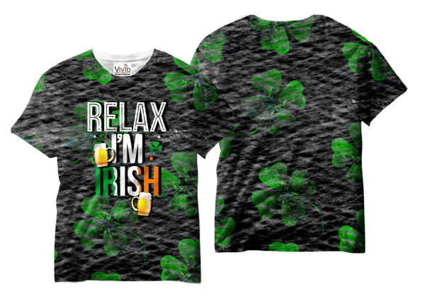 Adults Relax I'm Irish Sublimation T-Shirt - Vivid Sportswear