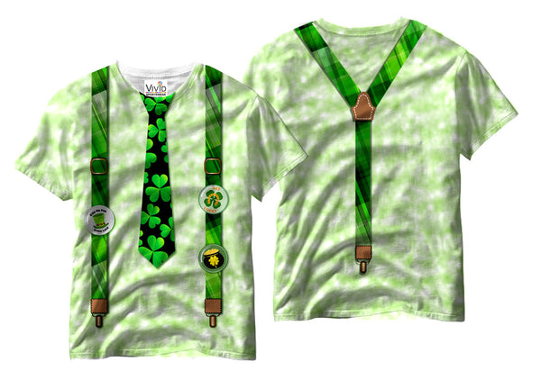 Irish Suspenders Sublimation T-Shirt - Vivid Sportswear