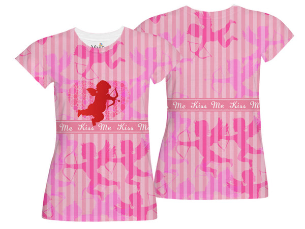 Cupids Angel Sublimation V-Neck Shirt - Vivid Sportswear