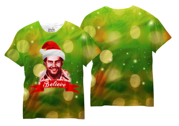 Pablo Clause Believe Sublimation T-Shirt - Vivid Sportswear