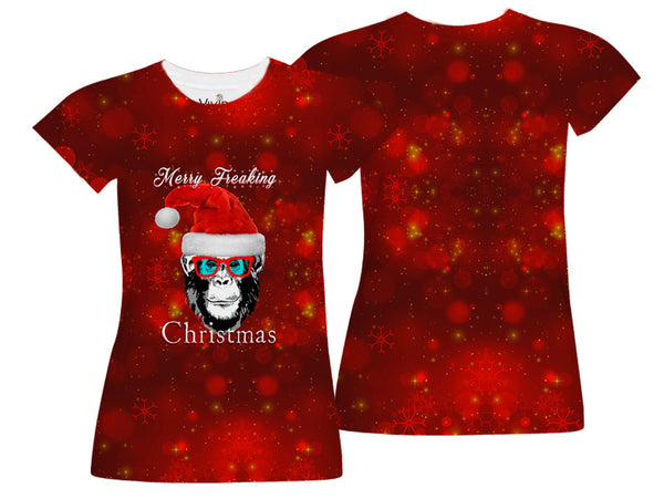 Merry Freakin Christmas Sublimation T-Shirt - Vivid Sportswear