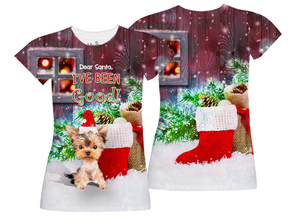 I've Been Good_Yorkie Sublimation T-Shirt - Vivid Sportswear